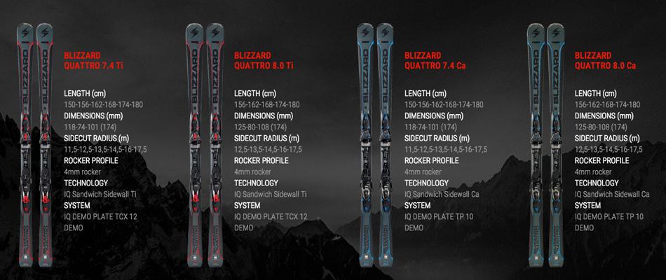 Blizzard Unisex Quattro Ski
