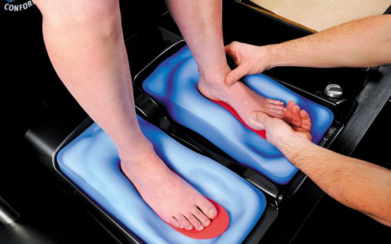 Sidas - Aanmeten van de voeten